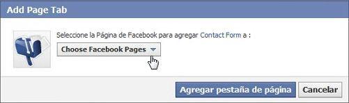 Instalar Contact Form en Facebook