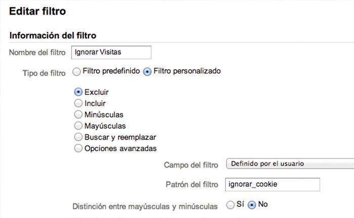Cómo añadir un nuevo filtro a Google Analytics