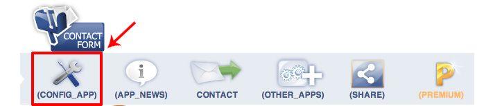 Panel de control del formulario para Facebook