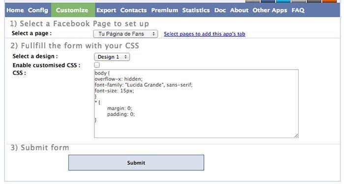 Personalizar tu formulario de Facebook