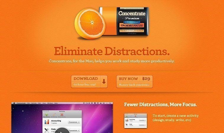 Diseño Web con naranja