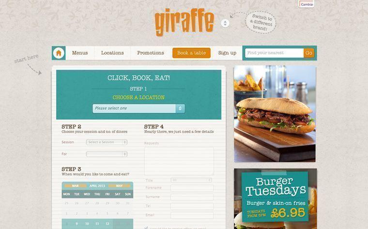 Diseño de páginas web para restaurantes y cafeterías - Reservas