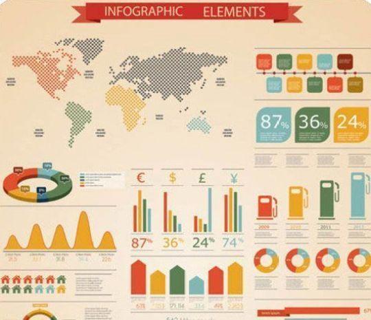 Elements of infographics vector - Plantillas para infografías gratuitas