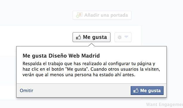 Abrir página de empresa en Facebook - Me Gusta