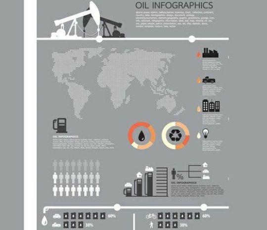 Oil Theme Business Infographics Vector Chart - Plantillas para infografías gratuitas