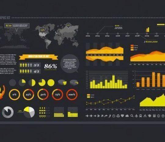 Free Vector Infographic Kit - Plantillas para infografías gratuitas