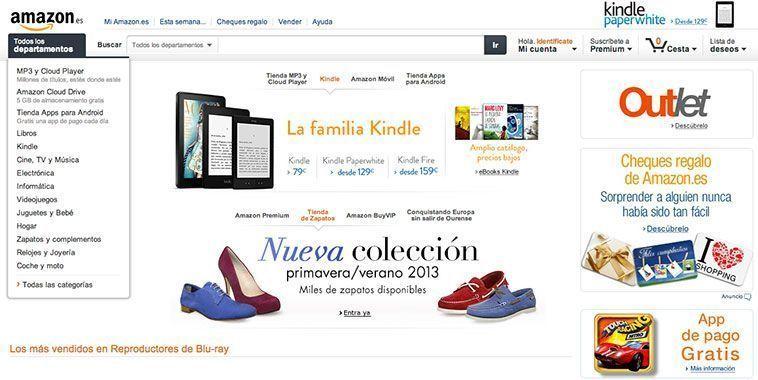 Trucos diseño de tiendas virtuales exitosas - Amazon