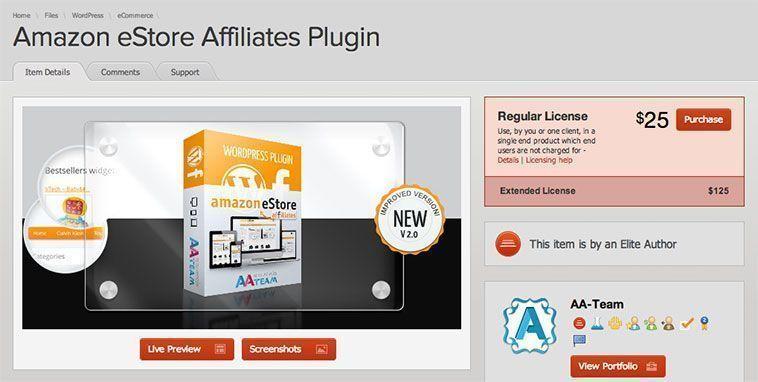 Plugins de WordPress para programas de afiliación - Affiliates Amazon
