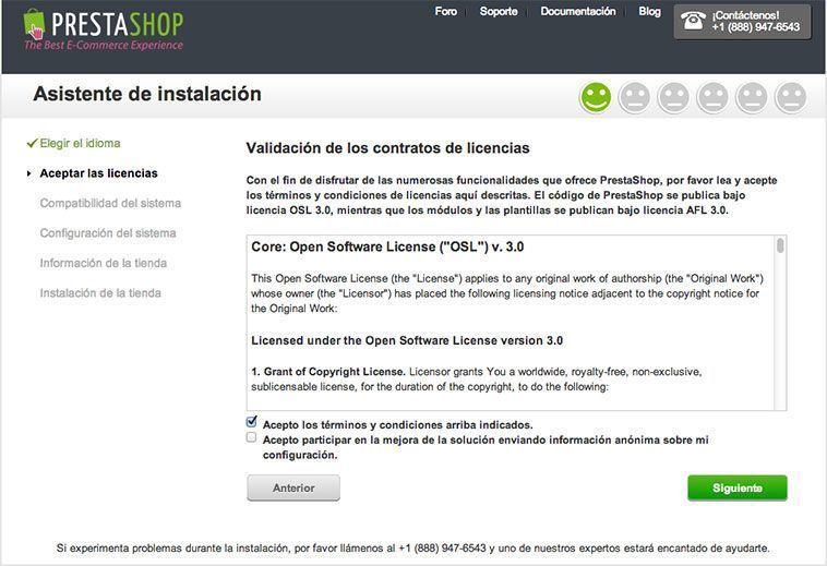 Crear una tienda online con PrestaShop - Licencia