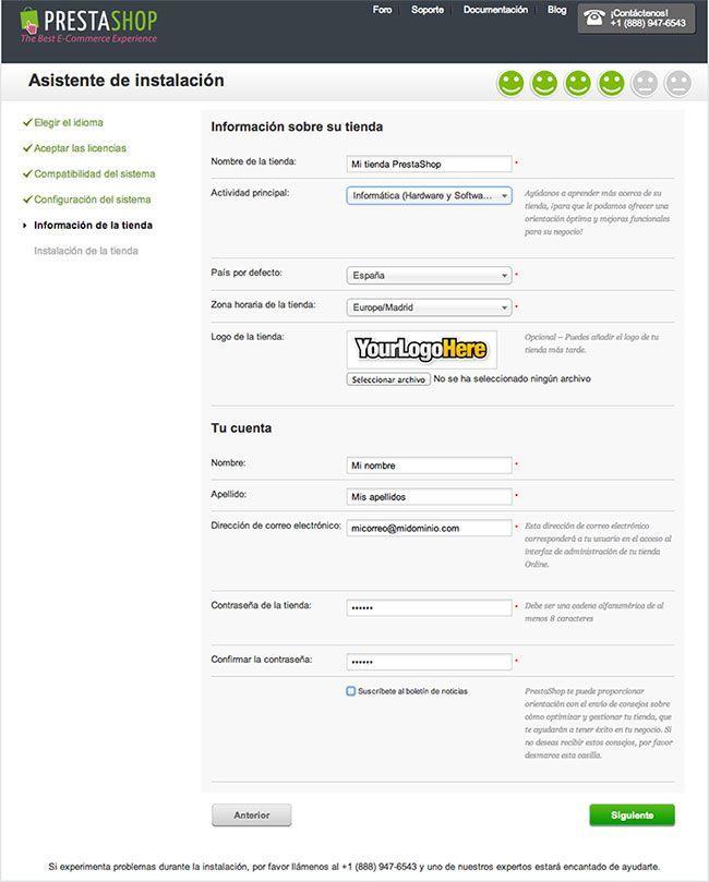 Crear una tienda online con PrestaShop - Información