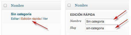 Optimización SEO para WordPress - Categoría por defecto