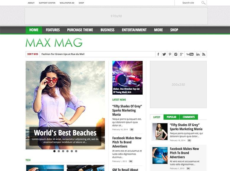Max Mag - Tema WordPress para revistas digitales y medios de comunicación