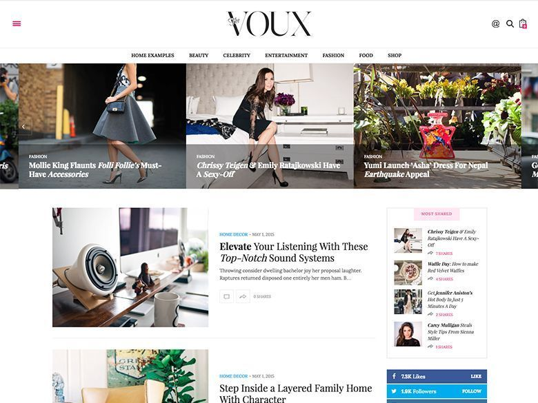 The Voux - Plantilla WordPress revistas elegantes
