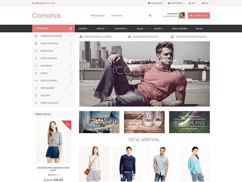 Comoshos - Tema OpenCart para ecommerce