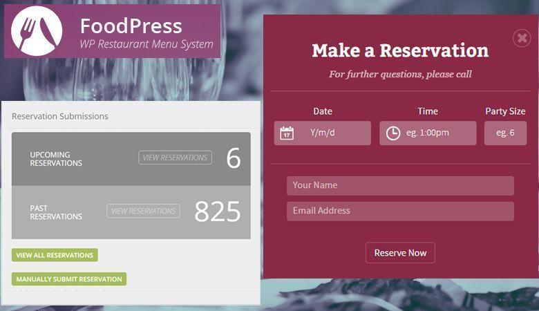 Foodpress - Plugin de sistema de reservas para restaurantes