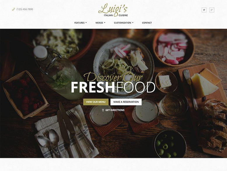 Luigi - Plantilla WordPress para restaurantes italianos