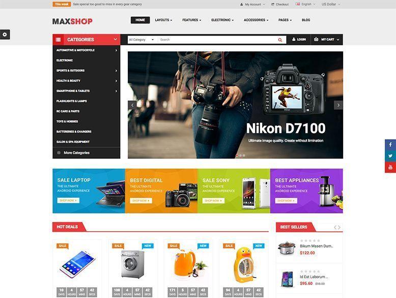 Maxshop - Tema OpenCart para grandes tiendas online