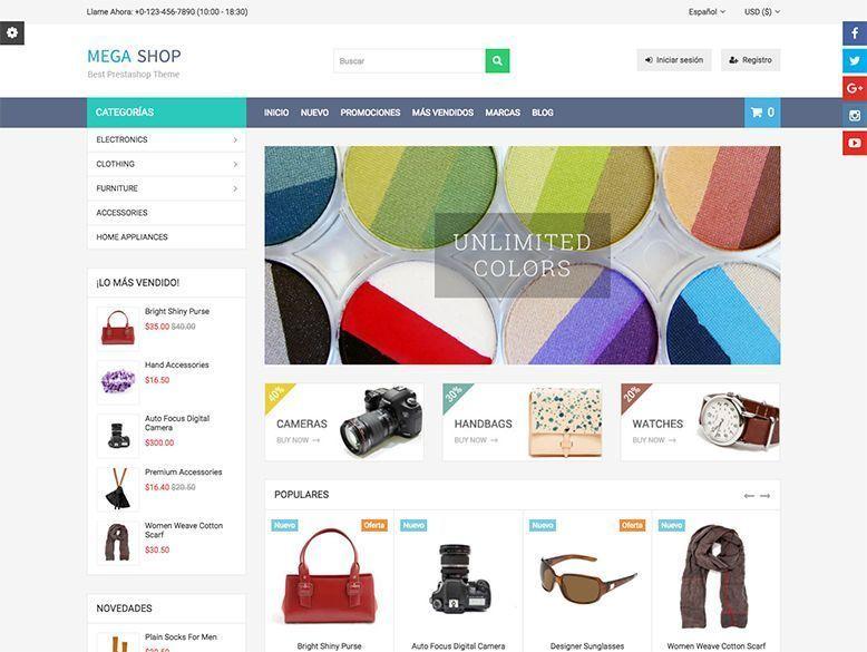 Mega Shop - Tema Prestashop para tiendas online