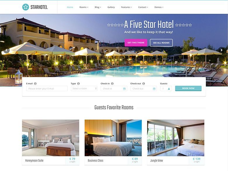 Starhotel - Tema WordPress para hoteles y resorts
