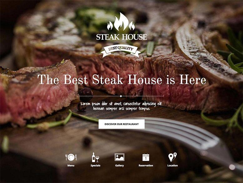 Steak House - Tema WordPress para asadores y restaurantes con parrilla