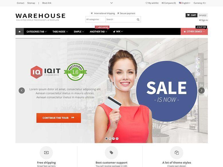 Warehouse - Plantilla Prestashop para tiendas virtuales