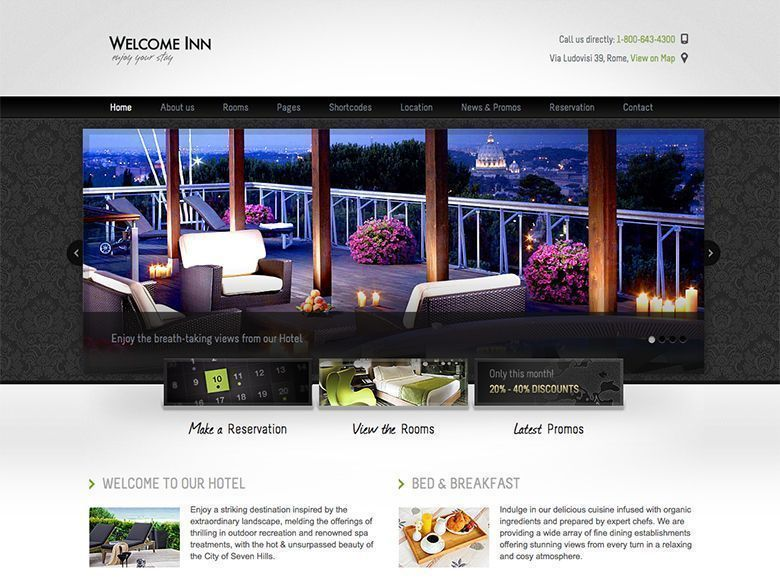 Wellcome Inn - Plantilla WordPress para hoteles con encanto
