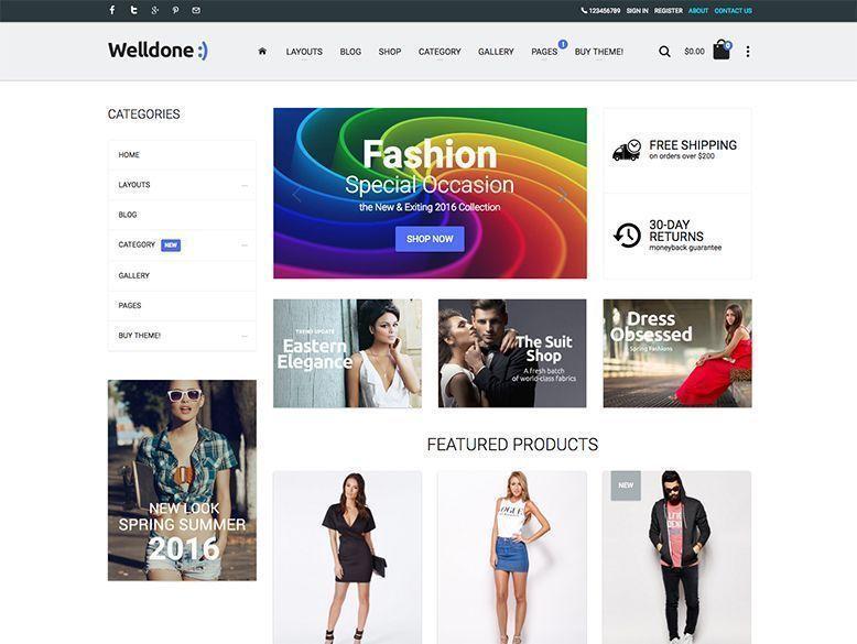 Welldone - Plantilla OpenCart para tiendas online