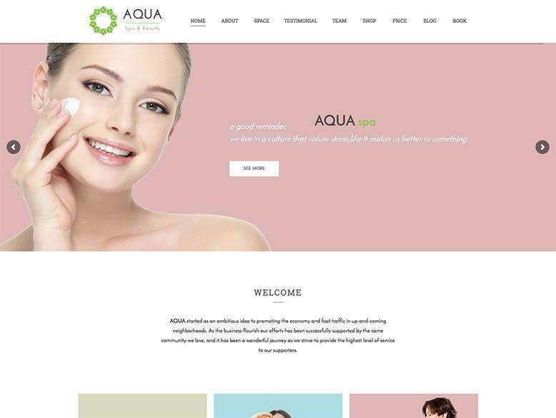 Aqua - Tema WordPress para Spas y centros de belleza y bienestar