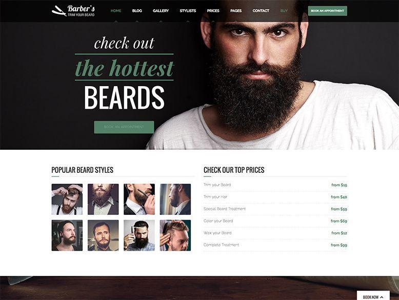 Barber - Tema WordPress para barberías y peluquerías de caballero