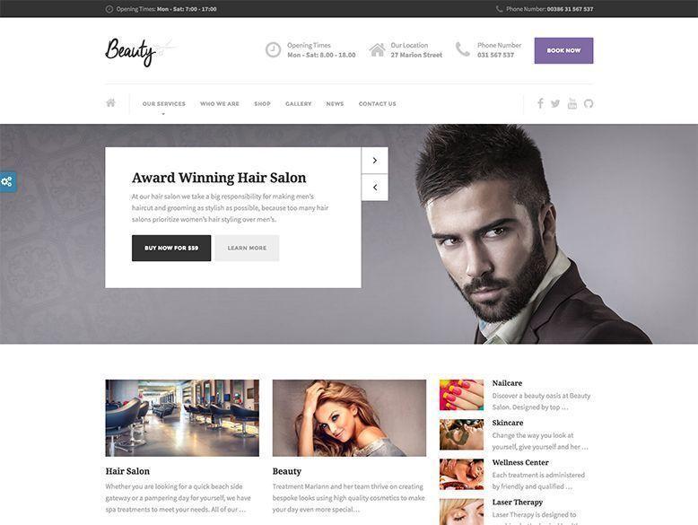 Beauty - Tema WordPress para salones de peluquería, barberías y centros de spa