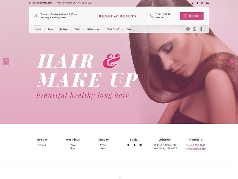 BnB - Tema WordPress para centros de maquillaje y peluquería
