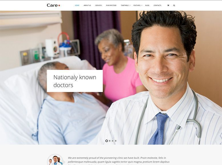 Care - Plantilla WordPress para centros de salud y hospitales