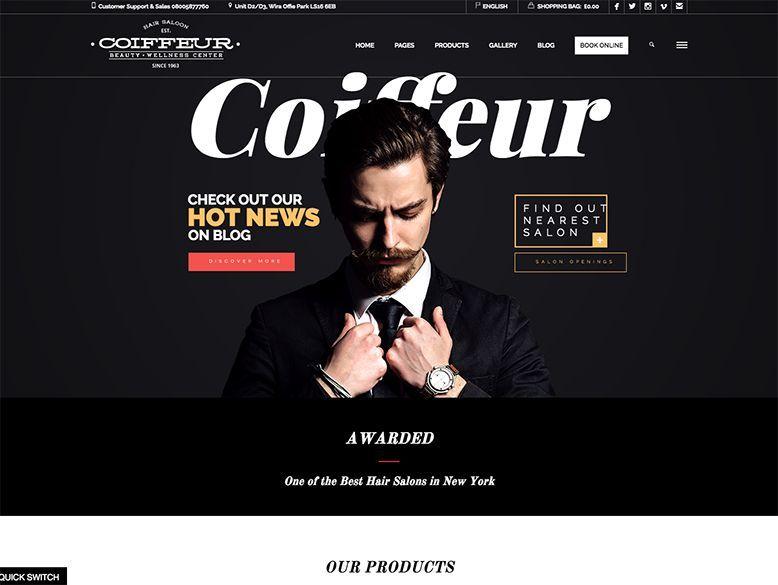 Tema WordPress para peluquerías y barberías - Coiffeur