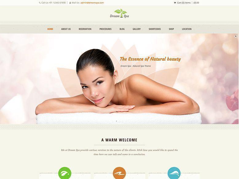 Dream Spa - Tema WordPress para centros de spa y balnearios