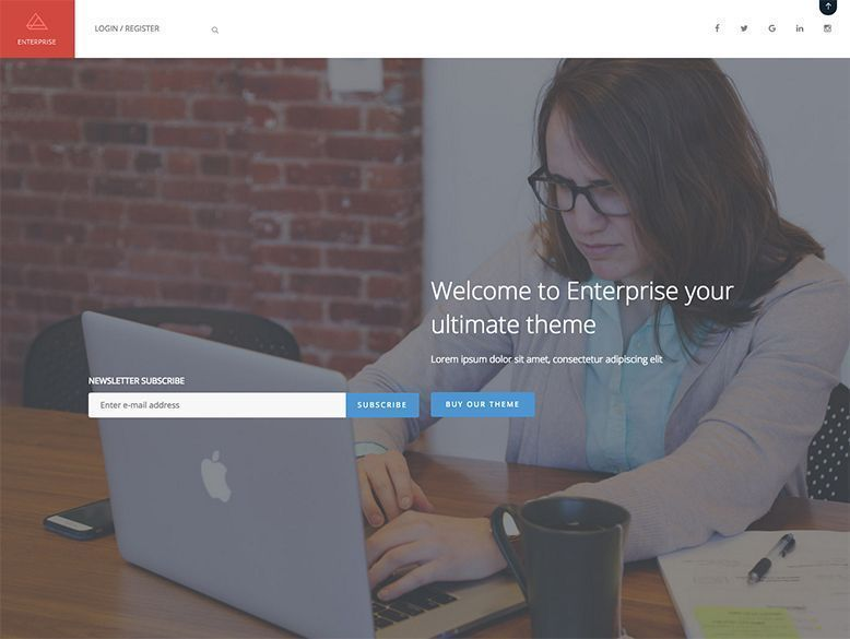 Enterprise - Plantilla WordPress para empresas y agencias digitales