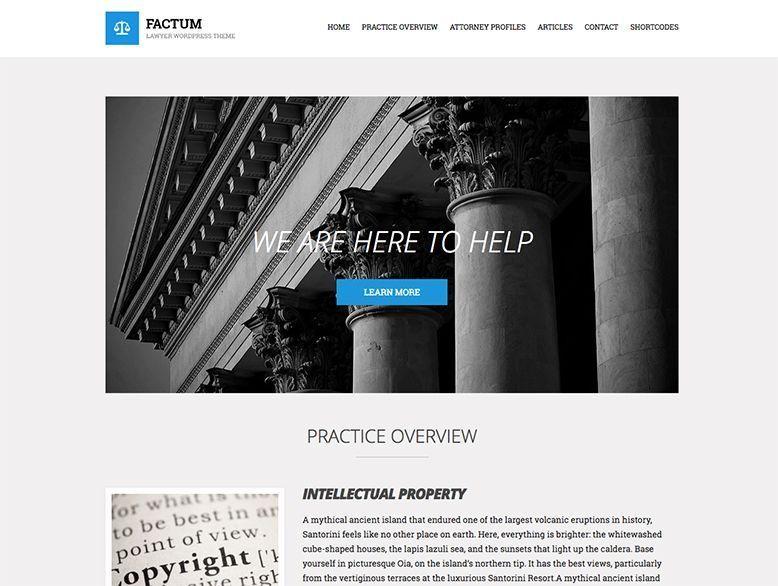Factum - Plantilla WordPress para abogados y notarios