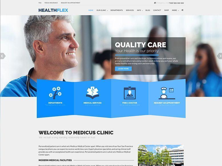 HealthFlex - Plantilla WordPress para clínicas médicas y de salud
