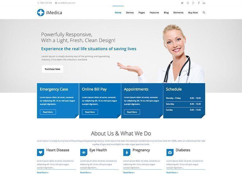 iMedica - Plantilla WordPress para médicos, dentistas y veterinarios