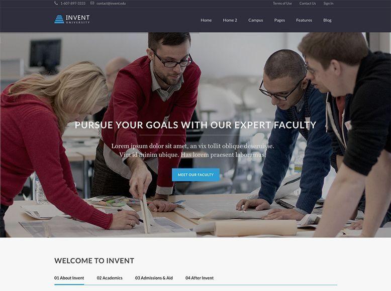 Invent - Tema WordPress para academias y escuelas de formación