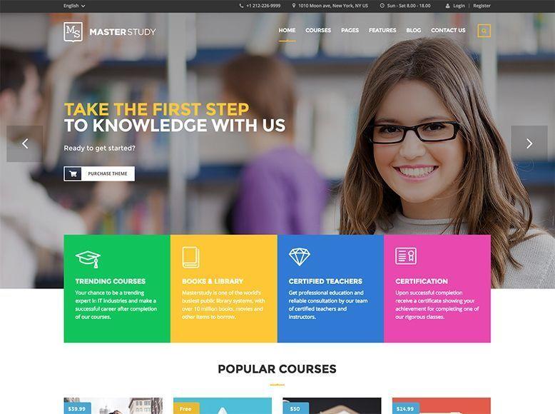 MasterStudy - Plantilla WordPress para centros escolares, colegios y academias