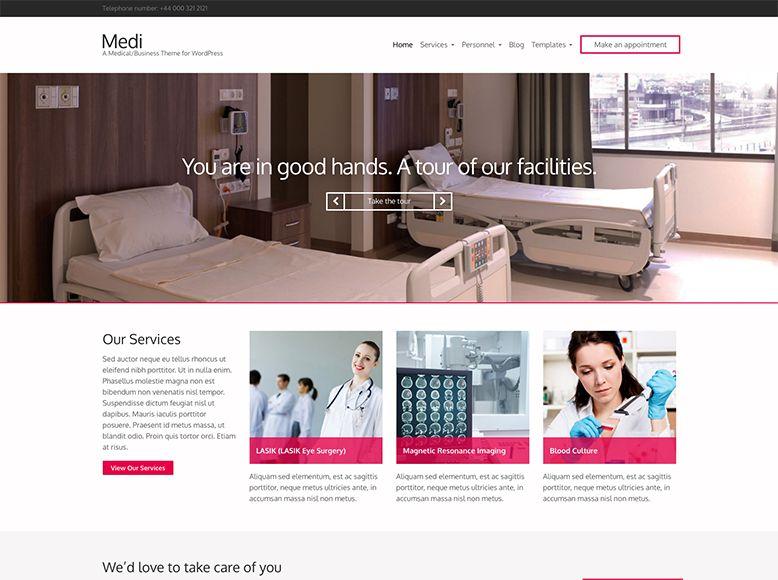 Medi - Plantilla WordPress para hospitales y clínicas sanitarias