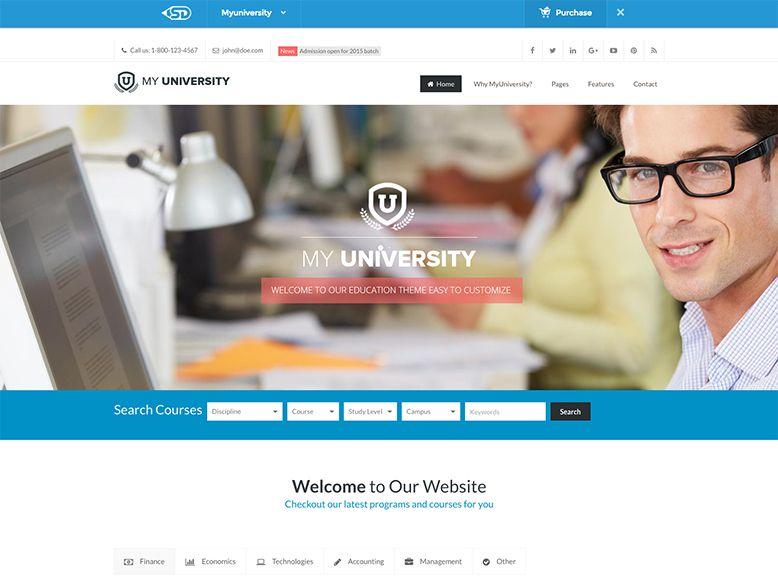 My University - Plantilla WordPress para universidades, institutos y colegios