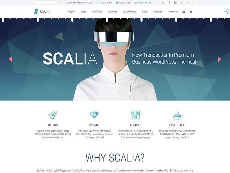 Scalia - Tema WordPress para agencias y empresas corporativas