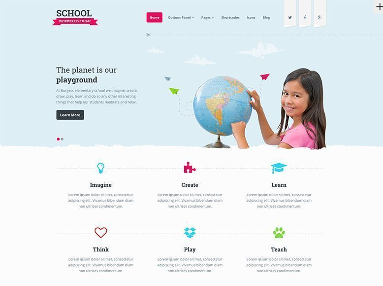 School - Tema WordPress para escuelas infantiles y guarderías