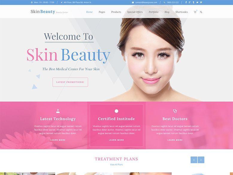 Skin Beauty - Plantilla WordPress para centros de belleza y manicura