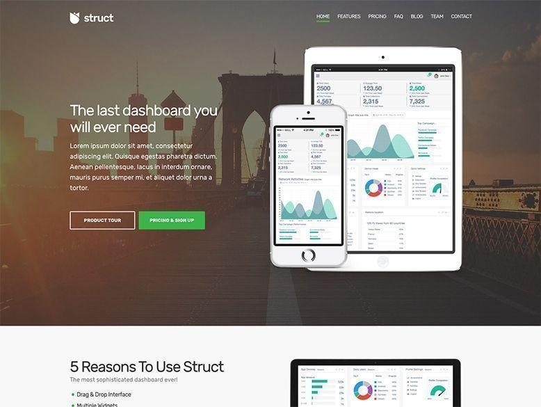 Struct - Plantilla WordPress para empresas y startups