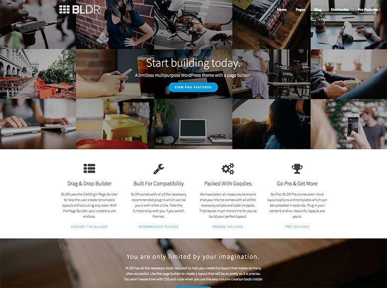 BLDR - Plantilla WordPress gratis para empresas y agencias