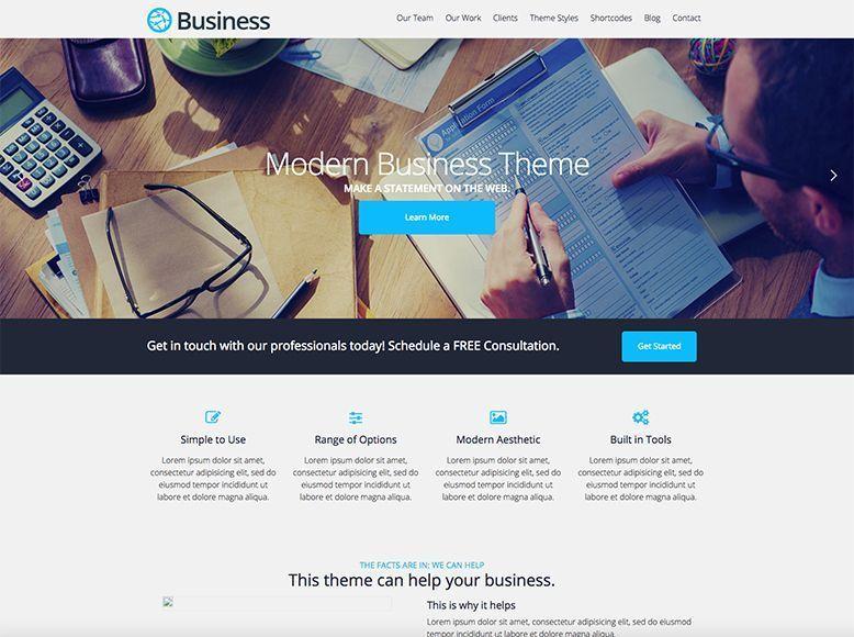 Business - Tema WordPress gratuito para empresas, agencias y startups