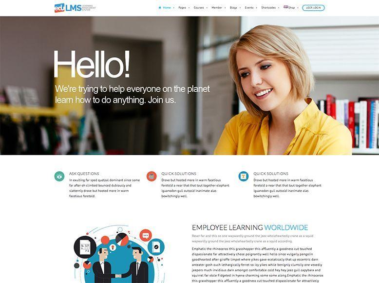 EduLMS - Tema WordPress para academias y centros de formación online