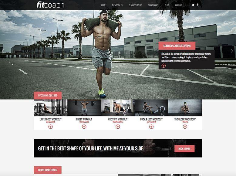 FitCoach - Tema WordPress gratis para gimnasios y clases deportivas